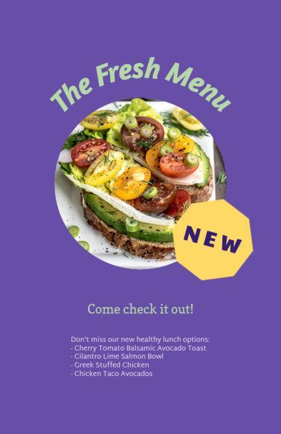 Customizable Flyer Template for Healthy Restaurants 96e