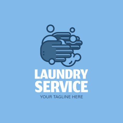 Laundry Business Logo Maker with Cleaning Products Icons 1204e