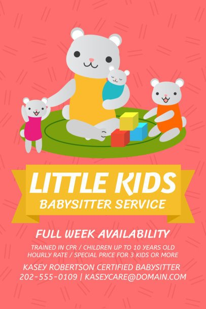 Flyer Maker for Babysitting Services a326