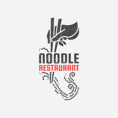 Online Logo Maker for a Noodle Bar with Noodle Clipart 1024c