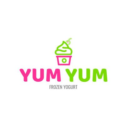 Online Logo Maker Frozen Yogurt Shop a1241