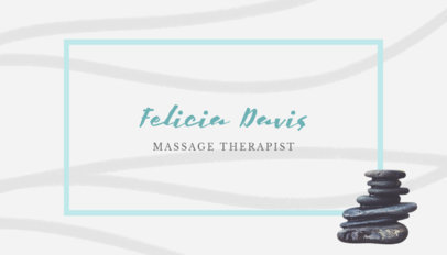 Business Card Maker for Spa Therapist 150a