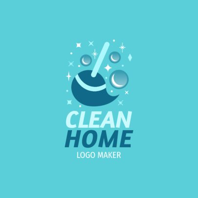 Online Logo Maker for House Cleaning Services 1173a