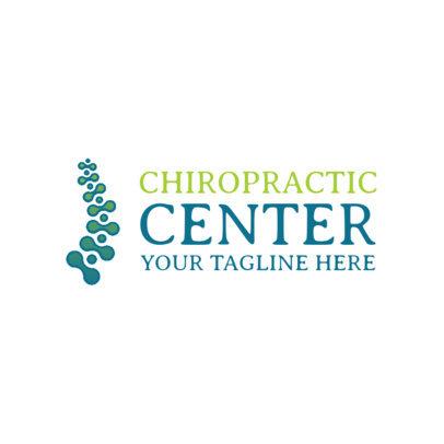 Chiropractic Wellness Center Logo Template 1188b