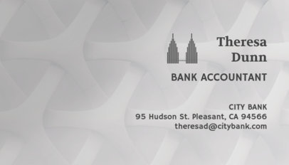 Business Card Generator for a Bank Accountant 148d
