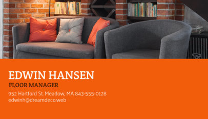 Business Card Maker for Furniture Businesses 176e