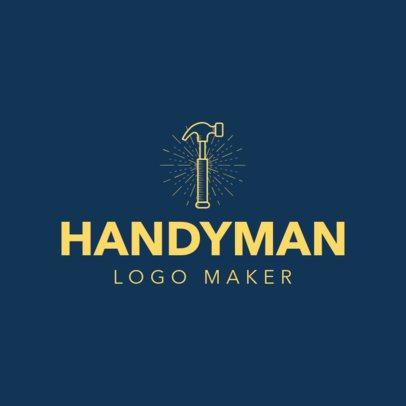 Handyman Logo Maker with Hammer Icon 1175b