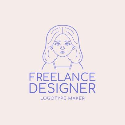 Freelance Designer Logo Maker with Avatar Generator 1170b