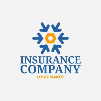 Insurance Company Logo Maker with Arrow Icons 1160e