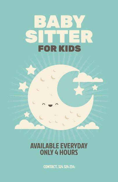 Online Flyer Maker for Babysitters 349