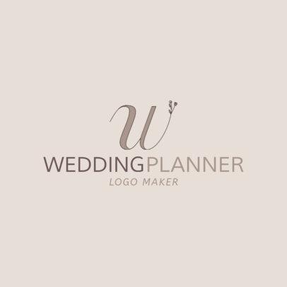 Wedding Planner Logo Maker with Floral Fonts 1138b