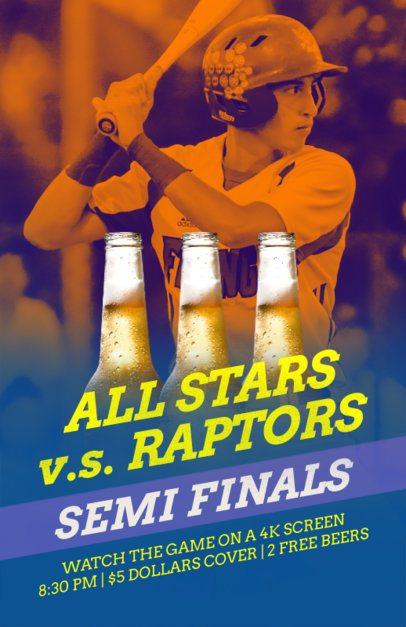 Online Flyer Maker for Baseball Season in Beer Pubs 181c