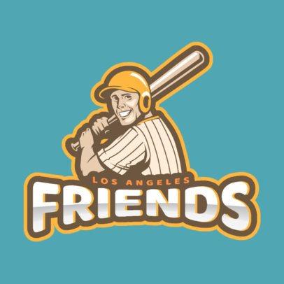 Baseball Logo Maker with Baseball Player Graphic 172a