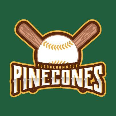 Sports Logo Maker for a Baseball Team with Baseball Clipart 172c