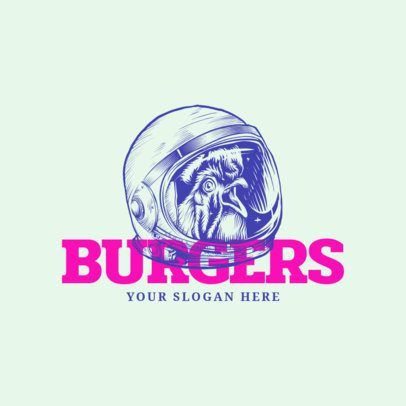 Logo Maker for a Burger Restaurant with Line Art 973a