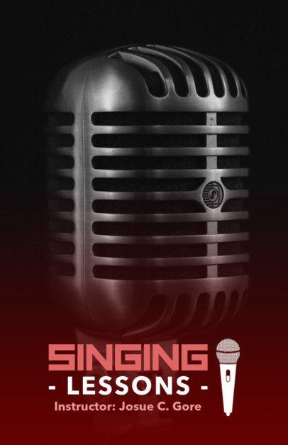 Singing Lessons Online Flyer Maker for Instructors 157a