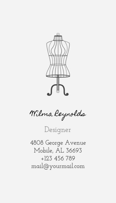 Business Card Maker for Seamstress with Sewing Images 180a