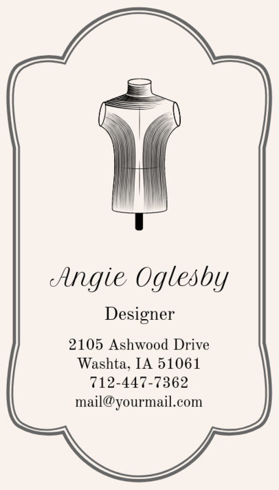 Business Card Maker for Tailoring Shops with Tailor Images 180d