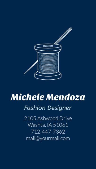 Online Business Card Maker for Modern Tailors 180e