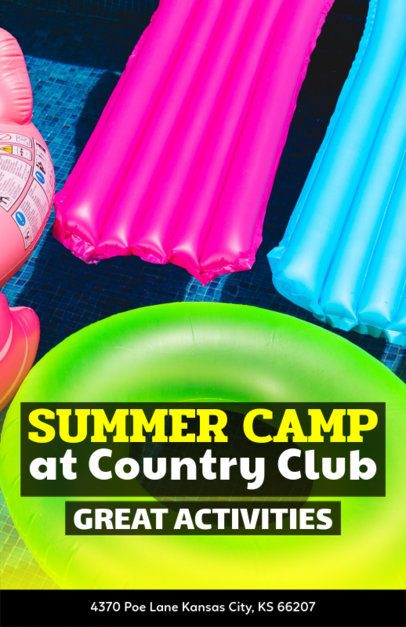Online Flyer Maker for a Country Club Summer Camp 222b
