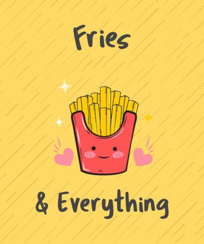 French Fries T-Shirt Logo Maker 234c