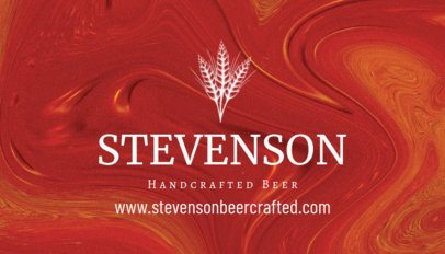 Online Business Card Maker for Craft Beer 239b