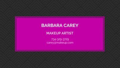 Makeup Artist Business Card Template 112a-1903