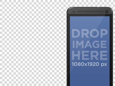 Mockup of Android Smartphone with Multiple Background Options