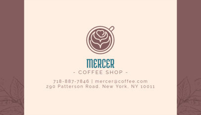 Business Card Template for Coffee Brands with Coffee Texture 186c