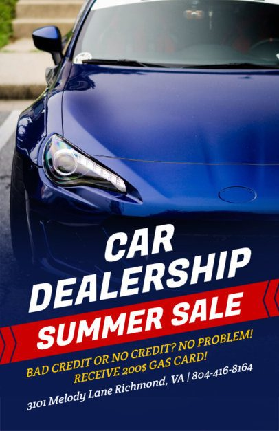 Online Flyer Maker for a Car Dealership Blue Theme 273b