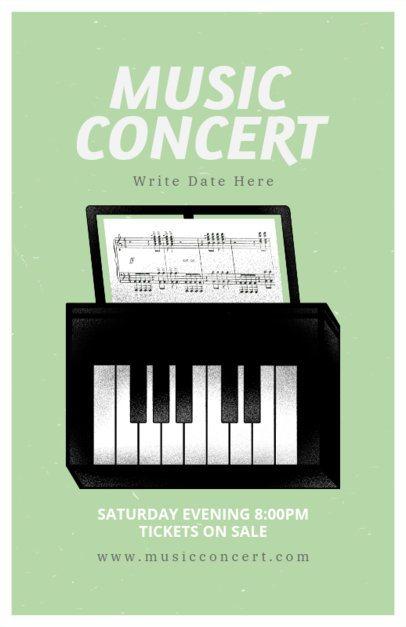 Online Flyer Maker for a Piano Music Concert 192d