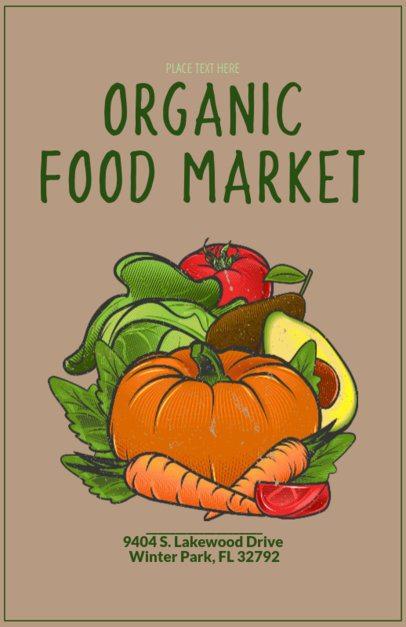 Online Flyer Maker for an Organic Food Market 163a