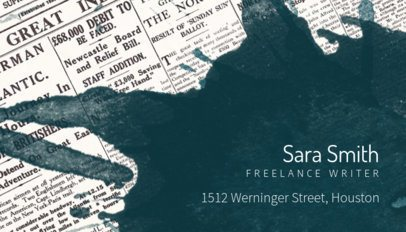 Business Card Maker for Freelance Editor with Textures 211d