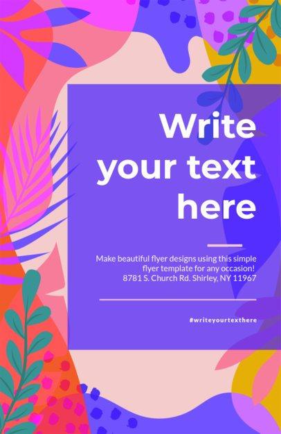 Online Flyer Maker for Artistic Designs 275b
