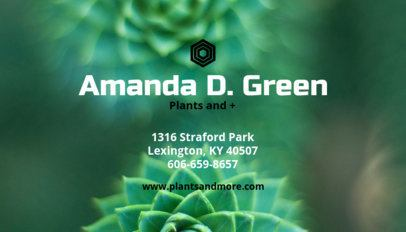 Business Card Maker for Greenhouse Businesses 114c