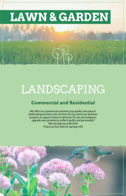 Online Flyer Maker for Landscaping Companies 125a