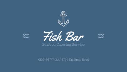 Fish Bar Business Card Maker 122b-1903