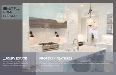 Luxury Real Estate Flyer Maker with Gray Theme 249a