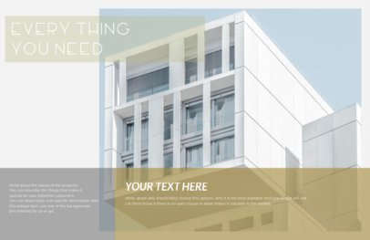 Real Estate Flyer Template for Modern Apartments 249c