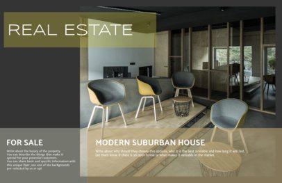 Online Real Estate Flyer Template Dark Theme 249e