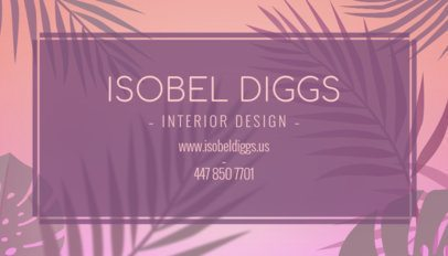 Interior Designer Business Card Maker with Custom Graphics 243e--1877
