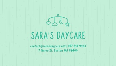 Business Card Maker with Pastel Colors for Daycares 256c