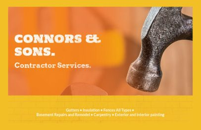 Professional Flyer Maker for Construction Contractor Services 287c