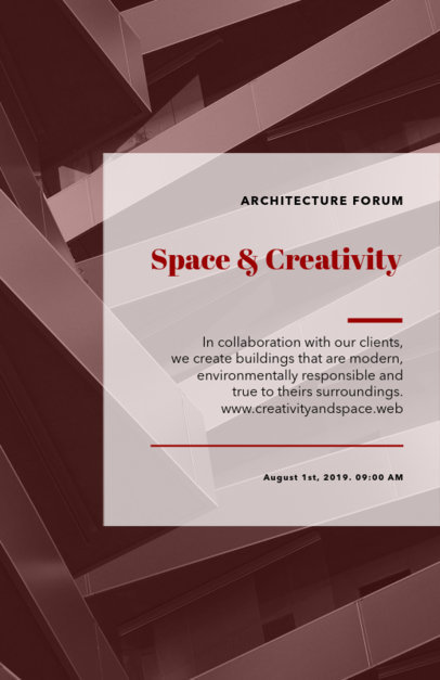 Flyer Maker for Architecture Events with Geometric Backgrounds 314d