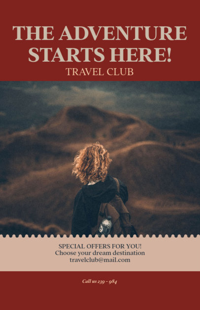 Online Flyer Template for a Travel Club 307c