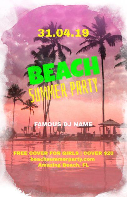 Beach Party Online Flyer Maker 133e