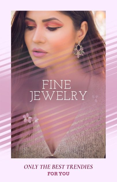 Online Flyer Maker for a Fine Jewelry Sale 322c
