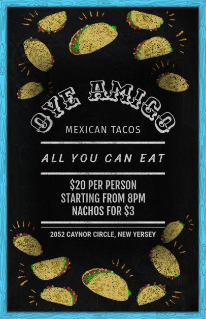 Online Flyer Maker for a Taco Restaurant 371c