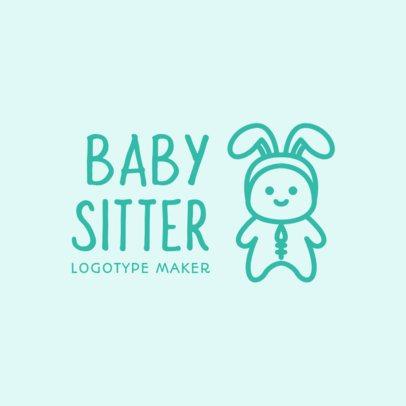 Baby Sitter Logo Maker 1177d