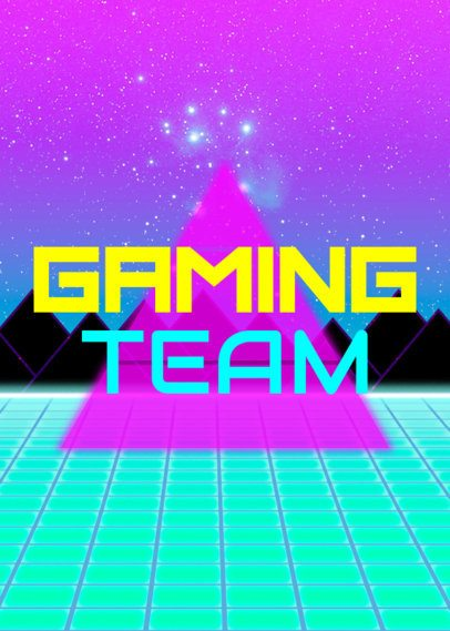 80s Gaming T-Shirt Design Maker 21d